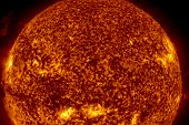 View Of The Sun Through Filters, 3d Rendering Computer Graphics Of The Sun Near. The Star Is The Sun poster