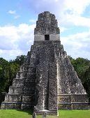 Maya Temple In Tikal