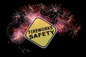 Fireworks Safety Reminder Background Before The Holidays poster
