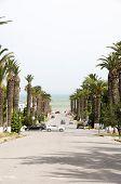 Rue Dag Hammarskjoeld Carthage-hannibal Tunis Tunisia Road To Sea