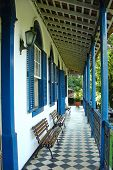 picture of farm-house  - old farm house veranda  - JPG