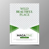 Magazine Design Template. Easy To Adapt To Brochure, Annual Report, Magazine, Poster, Corporate Pres poster