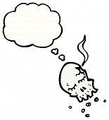 dibujos animados de cráneo de bala