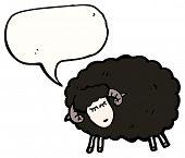 cartoon black sheep