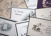 Collection Of In Memoriam Cards