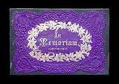 Antique In Memoriam Card