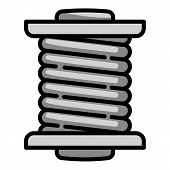 Cord Coil Icon. Outline Cord Coil Vector Icon For Web Design Isolated On White Background poster
