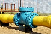Check valve in the gas pipeline.