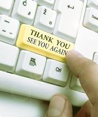 Text Sign Showing Thank You See You Again. Conceptual Photo Appreciation Gratitude Thanks I Will Be  poster