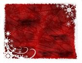 Red Snowflake Grunge Background