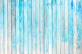 Vintage White Wooden Plank Painted In Blue Color. Wooden Panel With Beautiful Patterns. Wood Plank T poster