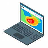 Laptop Tornado Observation Icon. Isometric Of Laptop Tornado Observation Vector Icon For Web Design  poster