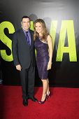 LOS ANGELES - JUN 25: John Travolta, Kelly Preston at the premiere of Universal Pictures' 'Savages'