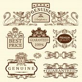Ornate Royal Luxury Premium Quality And Guarantee Label Design