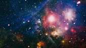 Bright Star Nebula. Distant Galaxy. Abstract Image. High Quality Space Background. Elements Of This poster