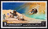 Postage stamp Manama 1972 Moon-landing, Apollo 15