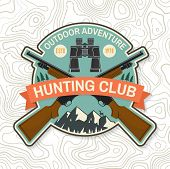 Hunting Club. Vector. Concept For Shirt Or Label, Print, Stamp , Patch. Vintage Typography Design Wi poster