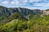 Verdon Gorge, Gorges Du Verdon, Amazing Landscape Of The Famous Canyon With Winding Turquoise-green  poster