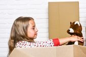 Insurance Post Package. Deliver Your Treasures. Storage For Toys. Delivering Happiness. Little Child poster