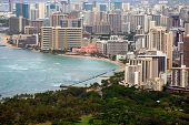 Waikiki From Diamond Head, Hawaii