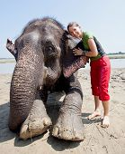 Bathing With Elephant