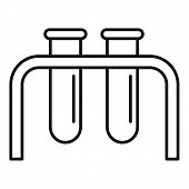 Science Test Tube Lab Icon. Outline Science Test Tube Lab Vector Icon For Web Design Isolated On Whi poster