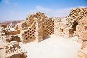 Ruins of ancient fortress Masada. Israel.