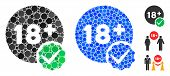 Adults Only Composition Of Small Circles In Different Sizes And Color Hues, Based On Adults Only Ico poster