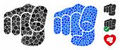 Only You Mosaic Of Round Dots In Different Sizes And Color Tinges, Based On Only You Icon. Vector Do poster