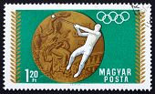 Postage stamp Hungary 1969 Hammer Throwing, Olympic sports, Mexi