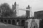 Tower bridge landmark building of London, UK poster