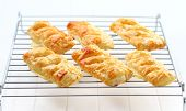 Delicious apple turnovers on tray