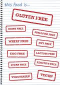 Allergy Rubber Stamps
