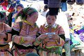 Vietnamese Flower Hmong Ethnic Minority People
