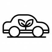 Ecology Car Icon. Outline Ecology Car Vector Icon For Web Design Isolated On White Background poster