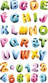 Colorful alphabet set. Vector. Capital letters and symbols available in my portfolio.