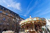 Merry-go-round Carousel In Paris