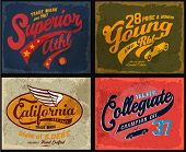 stock photo of 50s 60s  - retro illustration typography t - JPG
