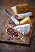 image of brie cheese  - Spanish Salami - JPG