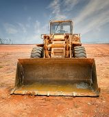 Bulldozer auf einer Baustelle