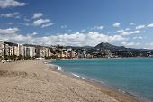 Beach In Malaga, Andalusia Spain