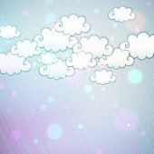 Rainbow clouds background; vector eps10 illustration