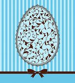 Easter card - lace ornaments and egg, bow.