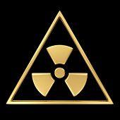 Radiation symbol on black