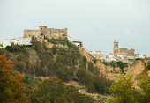 Arcos de la Frontera,  Andalusia, Spain.       Arcos de la Frontera is a town in the province of Cad