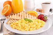 breakfast, scrambled egg