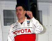 LOS ANGELES - APR 9:  Adam Carolla at the Toyota ProCeleb Race Press Day 2013 at the Toyoto Grand Pr