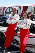 LOS ANGELES - APR 9:  Jeremy Sisto, Kate del Castillo at the Toyota ProCeleb Race Press Day 2013 at
