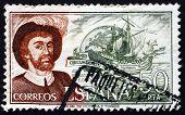 Briefmarke Spanien 1976 Juan Sebastian Elcano, Navigator
