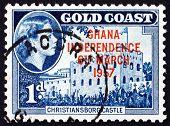 Postage Stamp Ghana 1957 Ghana Independence, Christiansborg Castle